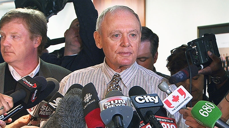 Toronto Deputy Mayor Doug Holyday addresses media at city hall, Friday, May 24, 2013.