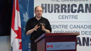 Chris Fogarty from the Canadian Hurricane Centre warns of an active season, Friday, May 24, 2013.