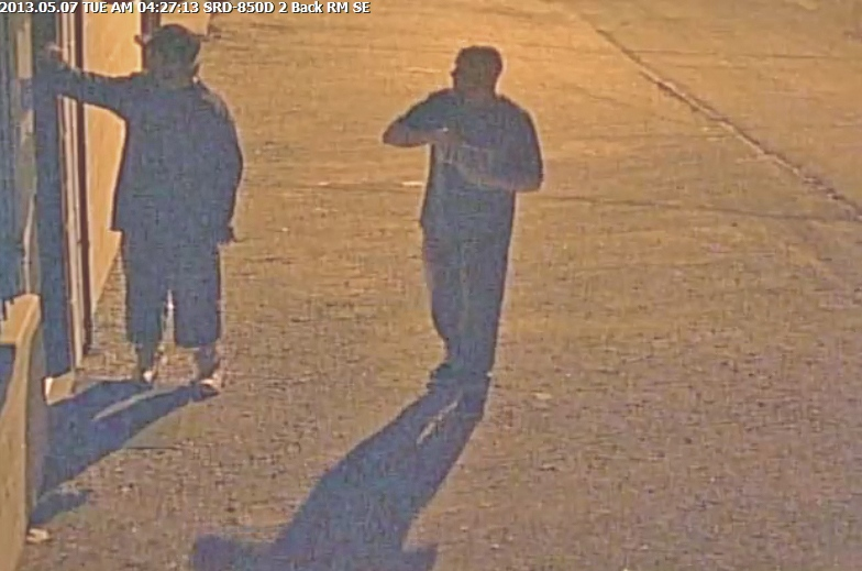OPP released this photo of suspects wanted in connection to vandalism in Leamington, Ont.