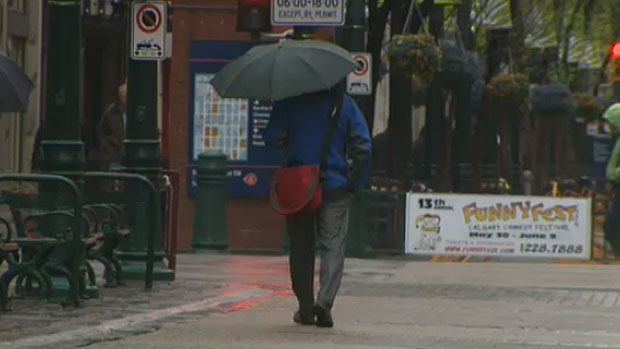 Umbrellas and rain gear are a must for the next couple of days in Calgary.
