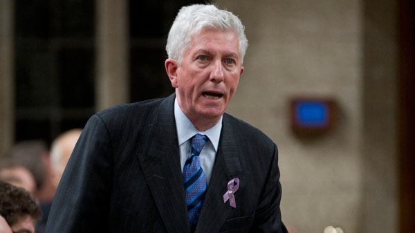 Bloc Quebecois leader Gilles Duceppe asks a question during Question Period in the House of Commons on Parliament Hill in Ottawa on Thursday, March 24, 2011. (Sean Kilpatrick / THE CANADIAN PRESS)