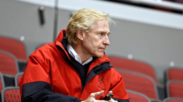 In this Jan, 15, 2013, file photo, Phoenix Coyotes general manager Don Maloney watches his team during NHL hockey practice in Glendale, Ariz. (AP / Ross D. Franklin)