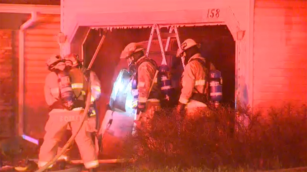Arbour Lake garage fire