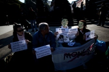 Monsanto rally in Buenos Aires