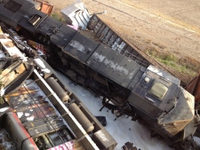 Railcars crashed in Rockview, Missouri