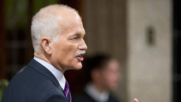 New Democratic Party leader Jack Layton asks a question during Question Period in the House of Commons on Parliament Hill in Ottawa on Friday, March 25, 2011.  (Sean Kilpatrick  / THE CANADIAN PRESS)