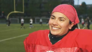 Saadia Ashraf not only runs the Montreal Blitz on the field, she runs the team off the field as well. (CTV Montreal)