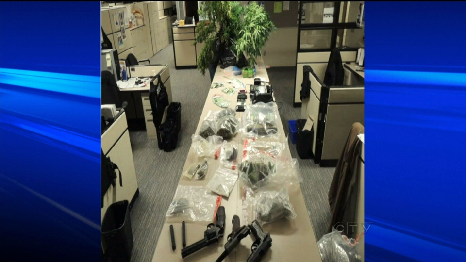 Police busted alleged marijuana grow-operation in a home in Burlington, Ont. on Saturday, May 25, 2013.