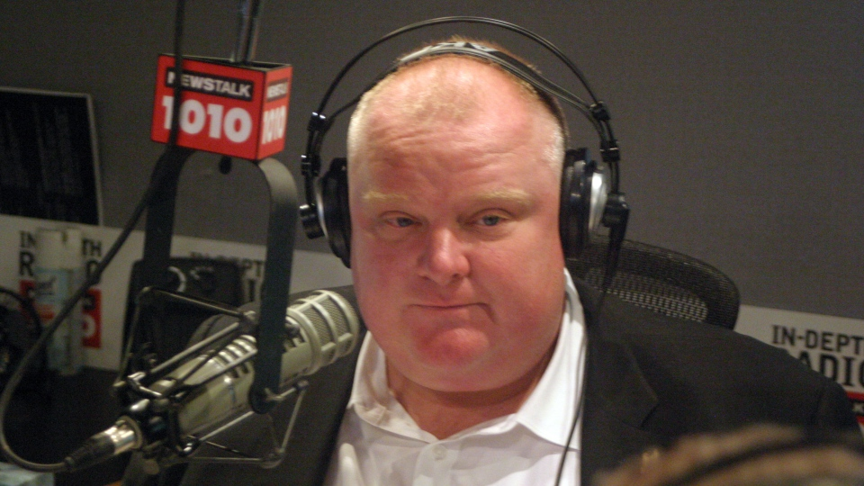 Toronto Mayor Rob Ford host their weekly radio talk show Sunday, May 26, 2013. (NEWSTALK 1010)