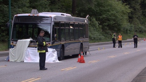 Police are investigating following a fatal collision in which a West Vancouver transit bus full of passengers struck a cyclist on the Stanley Park causeway. (CTV)