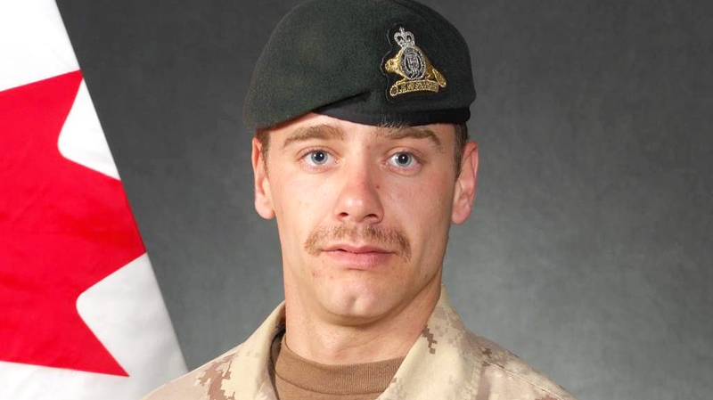 Cpl. Yannick Scherrer, shown in this undated handout photo, was on a foot patrol Sunday near Nakhonay, southwest of Kandahar city, when he was killed by an improvised explosive device. (DND-HO / THE CANADIAN PRESS)