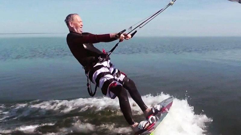 Former Pm Chretien Tries His Hand At Kitesurfing Ctv News