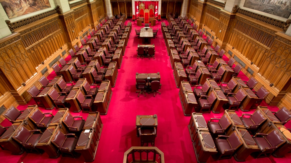 The Senate chamber on Parliament Hill in Ottawa is seen Tuesday May 28, 2013. (Adrian Wyld / THE CANADIAN PRESS)