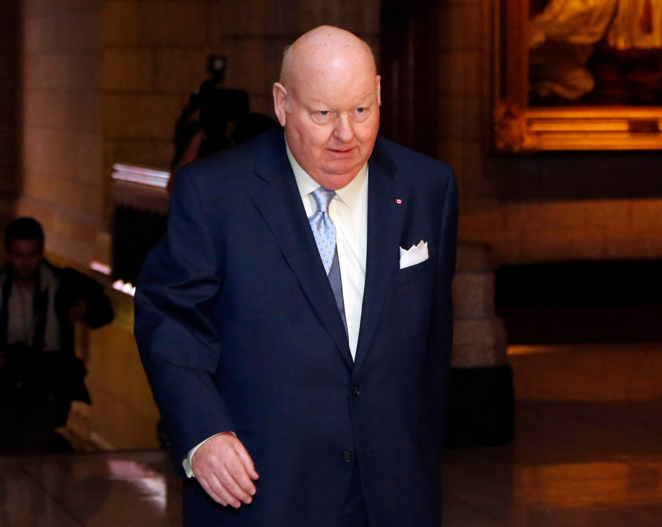 Senator Mike Duffy arrives at the Senate on Parliament Hill in Ottawa on Thursday, May 23, 2013. (Patrick Doyle / THE CANADIAN PRESS)