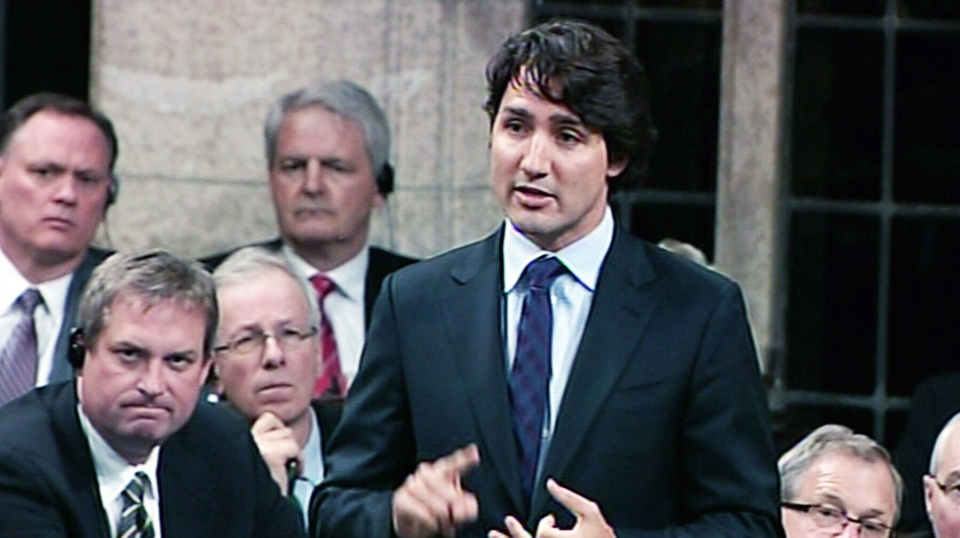 Liberal Leader Justin Trudeau speaks in the House of Commons Tuesday, May 28, 2013.