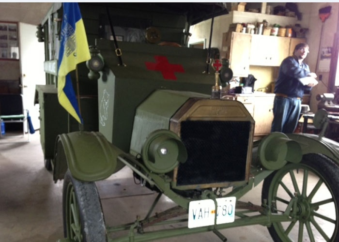The replica First World War ambulance took more than 500 hours to assemble in Treherne, Man.