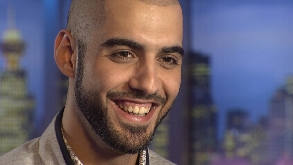 Omar Borkan Al Gala, the Internet sensation who was allegedly deported from Saudi Arabia for his good looks, speaks with CTV News, Tuesday, May 28, 2013.