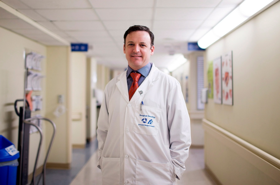 Dr. Sean Cleary, who specializes in heptobiliary and pancreatic surgery at the Toronto General Hospital, poses for a photo in Toronto on Tuesday, May 28, 2013.  (Michelle Siu / THE CANADIAN PRESS)