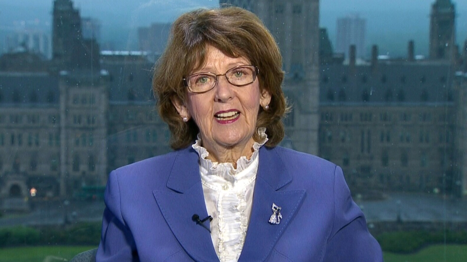 Sen. Marjory Lebreton appears on Canada AM from CTV studios in Ottawa, Wednesday, May 29, 2013.