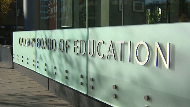Calgary Board of Education sign