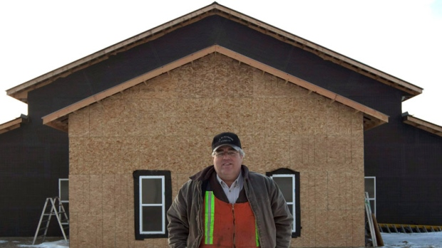 Winston Blackmore, the religious leader of the polygamous community of Bountiful near Creston, B.C., leaves the newly built community centre, Saturday, Feb 26, 2011. (Jonathan Hayward / THE CANADIAN PRESS)