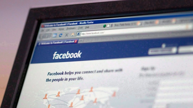 The social networking site Facebook login webpage is seen on a computer screen in Ottawa in this August 27, 2009 photo. (Adrian Wyld / THE CANADIAN PRESS)