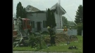 Fire crews battle a residential fire in Glencoe, Ont. on Thursday, May 30, 2013.