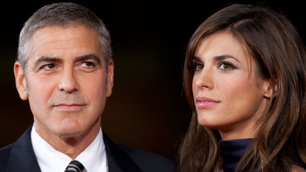 George Clooney and his girlfriend Italian actress Elisabetta Canalis pose on the red carpet at the 4th edition of the Rome Film Festival, in Rome, Saturday, Oct. 17, 2009. (AP / Andrew Medichini, File)