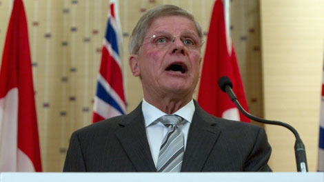 John Cummins announces his bid to become the new leader of the B.C. Conservative Party during a news conference in Vancouver, B.C. Tuesday, March 29, 2011. THE CANADIAN PRESS/Jonathan Hayward