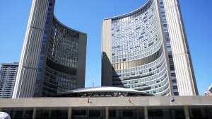 Toronto City Hall is seen in this file photo.