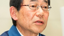 Masataka Shimizu, president of Tokyo Electric Power Co. speaks during the press conference in Tokyo, Japan, March 13, 2011. (AP / Eugene Hoshiko)
