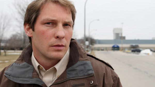 Ryan Dolby poses for a photo near the Ford Assembly Plant north of St. Thomas, Ontario, Wednesday, March 30, 2011, (Dave Chidley / THE CANADIAN PRESS)