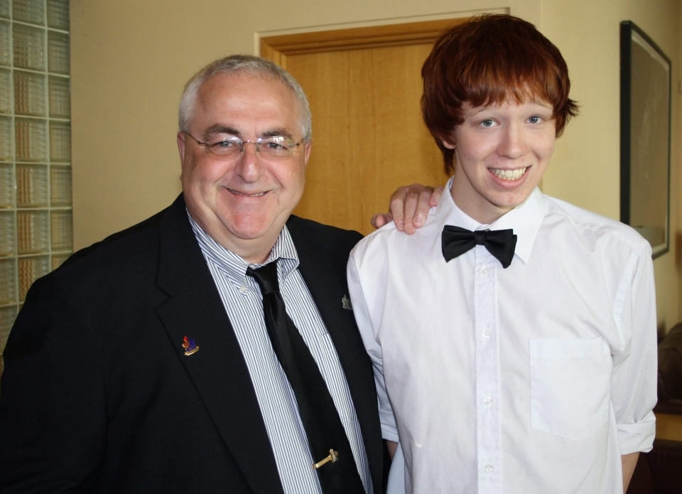 Ottawa city councillor Allan Hubley poses with his son Jamie in this 2011 family photo. (Hubley Family)