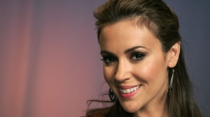 Actress Alyssa Milano poses for a portrait in New York, Monday, April 19, 2010. (AP Photo/Jeff Christensen)