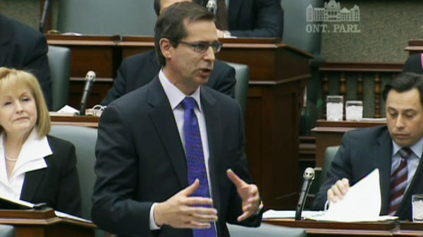 Premier Dalton McGuinty rejected the idea of raising the $100,000 minimum for the so-called sunshine list of public sector earners during question period on Thursday, March 31, 2011.