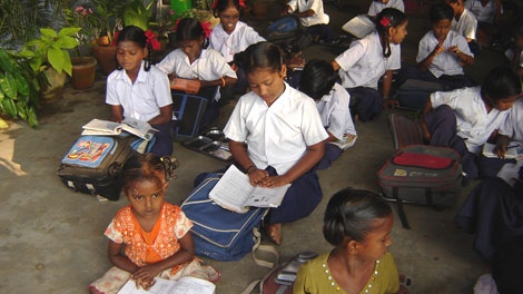 Young students study at Child Haven International's home in Kaliyampoondi, India(Garry Dwyer-Joyce)
