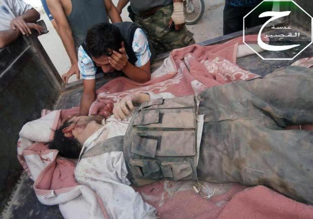 In Qusair, Syria on June 2, 2013.
