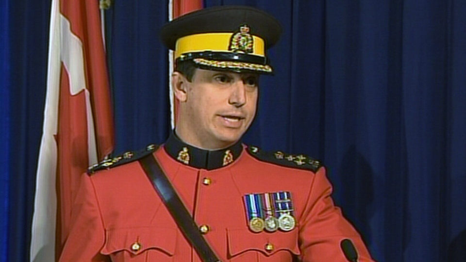 RCMP assistant commissioner Gilles Michaud speaks during a press conference in Ottawa, Monday, June 3, 2013.