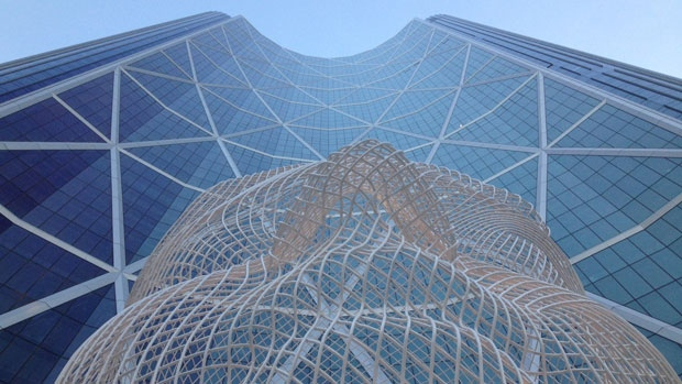 Calgary's Bow Building will be officially opened on June 4, 2013, with a ceremony involving First Nations dancers, fireworks, and a full tour of the amenities of the skyscraper.