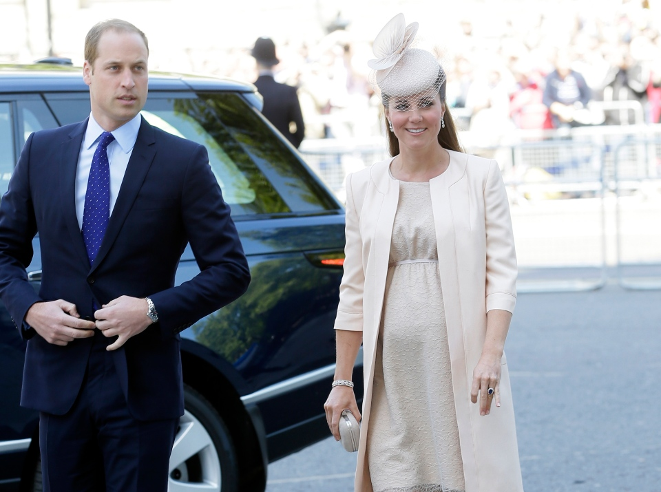 Members of the Royal Family, including a pregnant-and-stunning Duchess of Cambridge, stepped out at Westminster Abbey Tuesday for a special service as the queen celebrates the 60th anniversary since her coronation. <br><br>Prince William and Kate, Duchess of Cambridge arrive for a service to celebrate the 60th anniversary of the coronation of Queen Elizabeth II at Westminster Abbey, London, Tuesday, June 4, 2013. (AP / Alastair Grant)