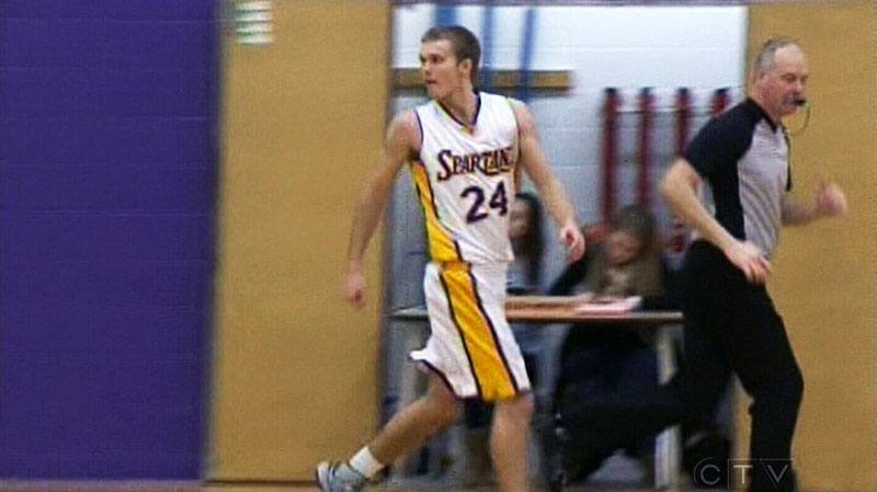 Guelph Centennial high school basketball star Erik Sterne commits to University of Guelph Gryphons' program on June 3, 2013.