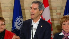 Liberal Leader Michael Ignatieff speaks to supporters during a campaign stop in London, Ont., Friday, April 1, 2011.