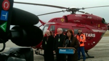 Manitoba has a fast new tool to save lives during the expected spring flood. The STARS air ambulance helicopter is now ready to fly over Manitoba and respond to emergencies.