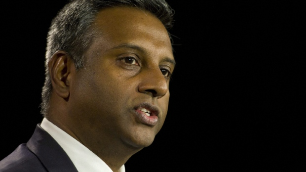 Salil Shetty, Secretary General for Amnesty International, addresses the role that Canada should play internationally on human rights issues in the Middle East, on economic, social and cultural rights, and in the global protection of Indigenous Peoples during a press conference on Parliament Hill in Ottawa on Thursday, March 31, 2011. (Sean Kilpatrick / THE CANADIAN PRESS)