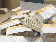 Police found 400,000 illegal cigarettes in a vehicle going from Ontario into Manitoba on May 1, 2008.
