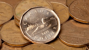Canadian loonies are pictured. (The Canadian Press/Jonathan Hayward)