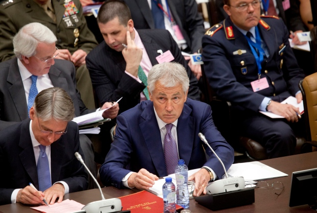Chuck Hagel in Brussels, June 5, 2013
