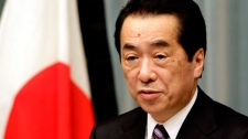Japan's Prime Minister Naoto Kan speaks during a press conference in Tokyo, Friday, April 1, 2011. (AP / Koji Sasahara)