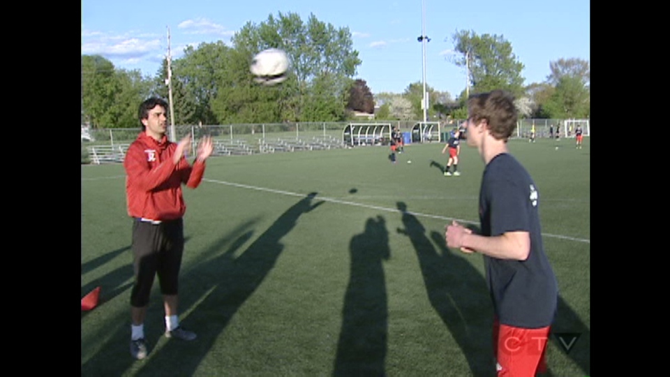 Ottawa Fury coach Jimmy Zito provides tips on how to head the ball in soccer.