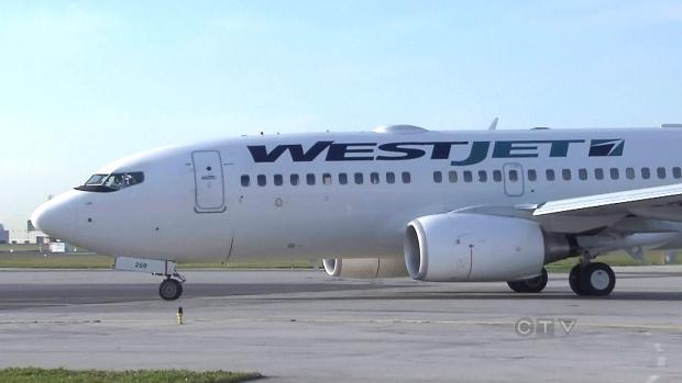 West Jet plane